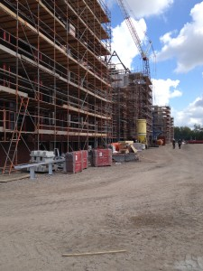 Woonlandschap de Leyhoeve te Tilburg in aanbouw